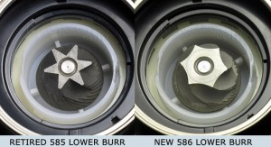 Virtuoso lower burrs compared