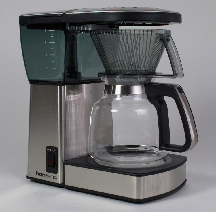 Bonavita Coffee Maker Dimensions : Bonavita 8 cup Coffeemaker BV1800 Glass - Refurbished Roastmasters.com