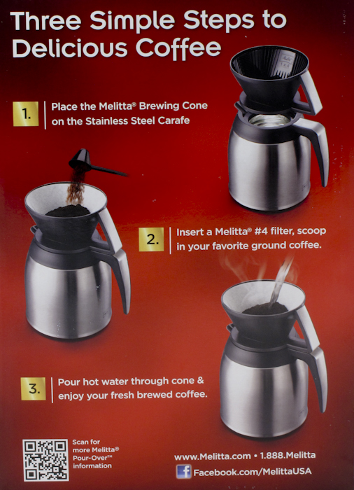 Melitta 10 Cup Pour-Over Coffee Brewer 55437641043